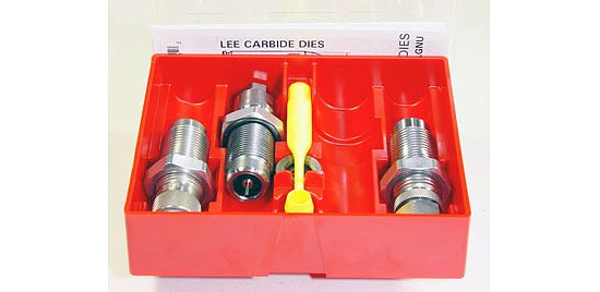 LEE Carbide/Hartmetall Pistolen- und Revolver 3-fach Matrizensatz / 3 Die-Set