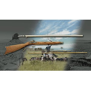 Great Plains Hawken Perkussions-Rifle Kit 160 im Kaliber .45, .50, .54